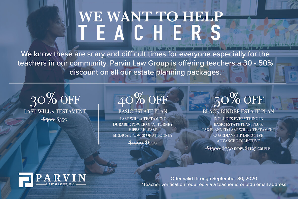 Teachers Special Pricing